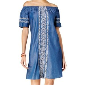 Style & Co. women M tent dress embroidered